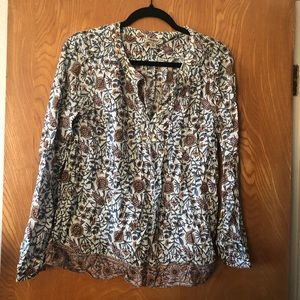 Lucky Brand pop over boho/ poetic style top M